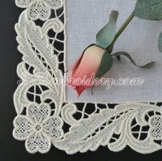 SKU 10620 Floral free standing lace edging machine embroidery set