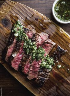 Grilled Beef Skirt Steak with Onion Marinade   From 'Around the Fire'
