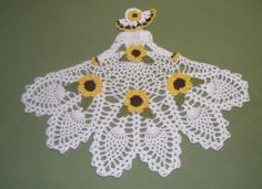 New Hand Crocheted Crinoline Lady/Girl Doily - Freeform Crochet, Thread Crochet, Crochet Motif, Irish Crochet, Crochet Designs, Crochet Yarn, Hand Crochet, Crochet Dollies, Crochet Angels