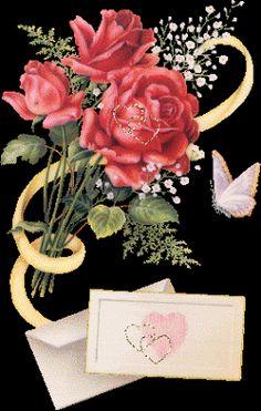 Flores - Imagenes de facebook Postales Bonitas con frases para Amor