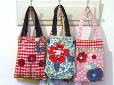 bags on hooks by amandatextile, via Flickr