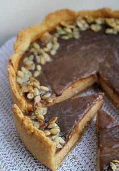 Bourbon-Caramel Pumpkin Cheesecake Tart