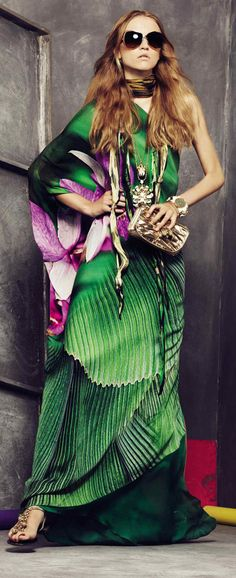Vibrant Bohemian dress by Roberto Cavalli