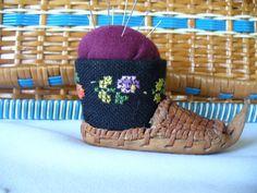 Vintage Swedish Sami/Laplander Shoe Pincushion by Reminisce47, $24.99