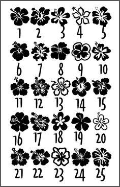 Hibiscus flower designs
