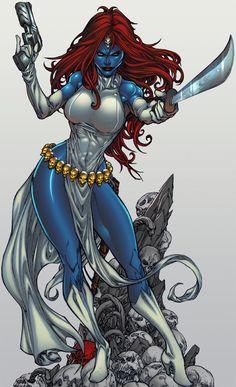 Mystique, Raven Darkholme - The Sea Lord, deviantART Marvel Dc Comics, Marvel Villains, Marvel Art, Marvel Heroes, Anime Comics, Marvel Women, Marvel Girls, Comics Girls, Mystique Marvel