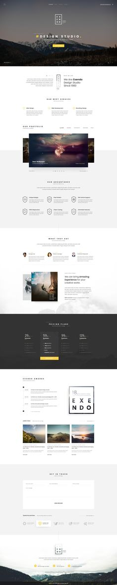 Exendo is creative and modern design #PSD #template for awesome #business websites download now➩ https://themeforest.net/item/exendo-creative-psd-template/16993581?ref=Datasata