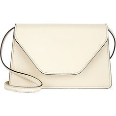 Valextra Isis Crossbody (€1.035) ❤ liked on Polyvore featuring bags, handbags, shoulder bags, bolsas, purses, accessories, bolsos, white, white leather handbags and shoulder strap handbags