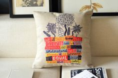 Maya Angelou quote  #pillow #decor #apartment #cute
