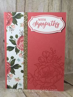 This beautiful card is part of my Card Buffet class for March 2016. It features the Birthday Blooms stamp set and the BIrthday Bouquet designer series paper.