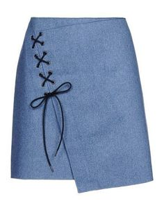 Vanessa Bruno Knee Length Skirt - Vanessa Bruno Skirts Women For a too tight skirt let it hang and add eye distracting decoration. Skirt Outfits, Dressmaking, Diy Clothes, Cute Skirts, Sewing Patterns, Fashion Dresses, Womens Fashion, Fabric, Fashion Design