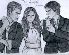 The Vampire Diaries drawing - the-vampire-diaries-tv-show Fan Art