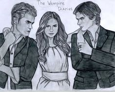 The Vampire Diaries drawing - the-vampire-diaries-tv-show Fan Art