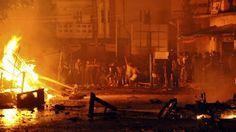 57 Buildings Burnt Down in #Myanmar Riot
