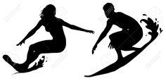 surfer silhouette - Google Search