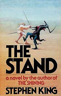 """""""The Stand"""" is a post-apocalyptic horror/fantasy novel by American author Stephen King. It expands upon the scenario of his earlier short story, """"Night Surf"""". The novel was originally published in 1978 and was later re-released in 1990"""