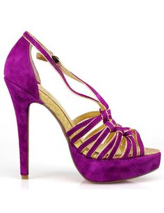 huge selection of b8227 cafa7 Purple Sheepskin Suede Strappy Woman s Gladiator Sandals