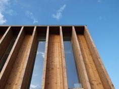 wood slit wall