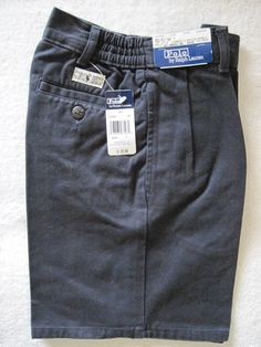 Ralph Lauren Polo Chino Navy Pleated Boys Shorts Size 7 New
