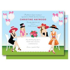 Ladies Champagne Brunch Garden Party Invitation by DelightPaperie, $20.00