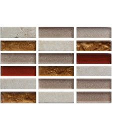 Accord Copper Bronze 15x48mm Mosaic Tile