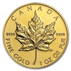 Canadian Gold Maple Leafs are considered to be one of the most beautiful Gold coins in the world. Since its release in the 1 oz Gold Maple Leaf has appealed to both investors and collectors alike for its beauty and purity. Buy Gold And Silver, Mint Gold, Bullion Coins, Gold Bullion, Maple Leaf Gold, Canadian Maple Leaf, Canadian Coins, Gold Value, Shopping