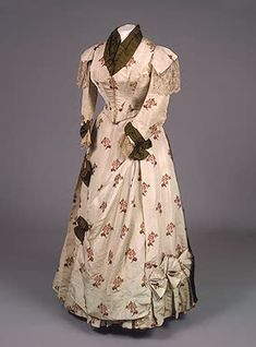 Worth day dress, late 1880's.