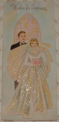 Vintage Just Married Bride Groom Gibson Greeting Card Ohio Vintage Wedding Cards, Wedding Art, Vintage Greeting Cards, Vintage Bridal, Vintage Gifts, Vintage Dolls, Vintage Postcards, Vintage Images, Happy Birthday Vintage