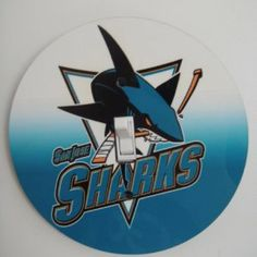 San Jose Sharks NHL Hockey Light switch Cover 5 Inch Round (12.5 cms) Switch plate Switchplate by Character Creations. $12.00. San Jose Sharks Design. Beautifully finishes off any room. Hardboard with Beautiful Glossy Finish. NOT a Sticker.  Image is heat sealed into the switchplate, therefore is completely washable.. Large 5 inches (12.5 cms) Lightswitch Cover. This is a fantastic addition to any bedroom, recroom or office and is made from hardboard, with a glossy front.  Thi...