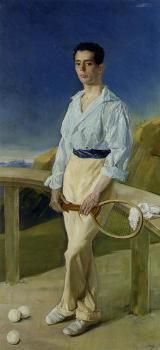 The Tennis Player: Pablo Ramos Villegas, c.1905 - Jose Villegas y Cordero - The Athenaeum