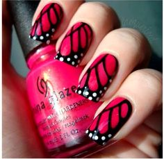 I love butterflies, I am not sure I would get my nails done like this..but super cute idea!