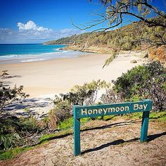 We've found it! The perfect place for a #honeymoon has got to be Honeymoon Bay in @Queensland right? This picturesque spot is nestled between North Point and Cape Moreton on #MoretonIsland, which is located just 25km off Brisbane's shore. Photo: @keiranlusk