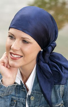 silk square head scarves for cancer patients