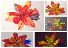 How to Create a Set of Andy Warhol Inspired Flower Prints