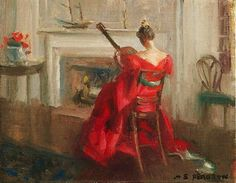 Lady with a Guitar -  Marguerite Pearson (1898-1978)