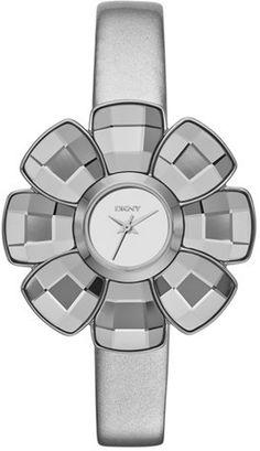 DKNY Flower Case Leather Strap Watch, 40mm on shopstyle.com