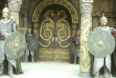 The doors to the great Hall of Meduseld in Edoras, Rohan. // one day I will have fronts doors like this!