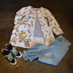 Giada Forte Summer Dream Jacket | Isabel Marant Etoile Linen Tee Shirt (In-store only) | Re/done High Rise Destroyed Jean | Isabel Marant Bessy Sneaker