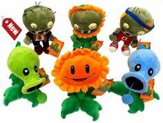 Pluche Plants vs Zombies knuffels | Exclusief bij De Kadootjeszolder | NU 9,95!!