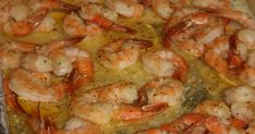 The Best Shrimp Scampi Components: 2 pounds shrimp (thawed, if frozen) 1 stick of butter 1 packet Italian dressing seasoning 1 lemon, sliced directions: . Mexican Shrimp Recipes, Shrimp Recipes For Dinner, Seafood Recipes, Cooking Recipes, Creamy Shrimp Pasta, Baked Shrimp Scampi, Shrimp Bake, Garlic Shrimp, Balsamic Chicken Recipes