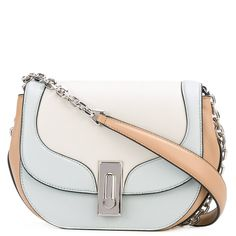 Marc Jacobs tricolour West End Jane shoulder bag ($720) ❤ liked on Polyvore featuring bags, handbags, shoulder bags, blue, white handbags, blue shoulder bag, leather shoulder handbags, evening handbags and blue purse