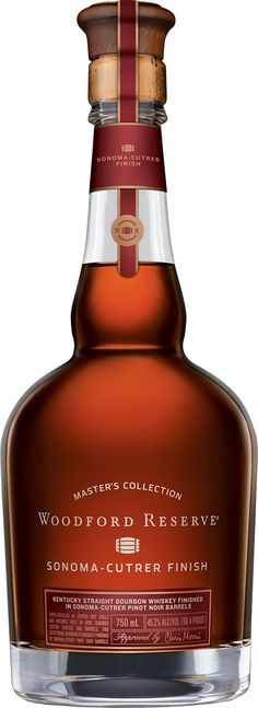 Woodford Reserve Masters Collection Sonoma-Cutrer Pinot Noir Finish. This limited-edition #whiskey, the ninth installment in #Woodford Reserve's Masters Collection, is finished for 10 months in ex-Pinot Noir casks from the famed Sonoma-Cutrer Vineyards in California.   @Caskers