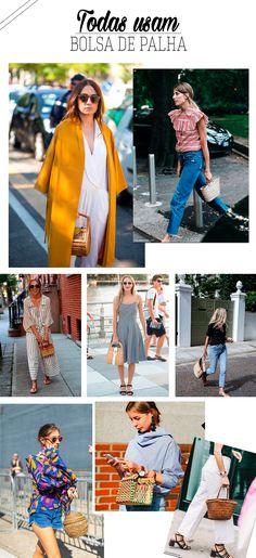 Veja como usar bolsa de palha, tendência perfeita para o verão.