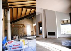 Before and after. Machine plastering, plasterboard ceilings, wallpapering, painting