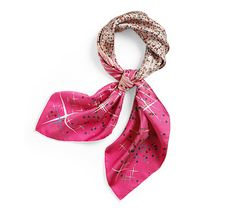 Hermes scarf The Magic Kelly Pattern - I wanted one in black, but this hot pink looks fab.