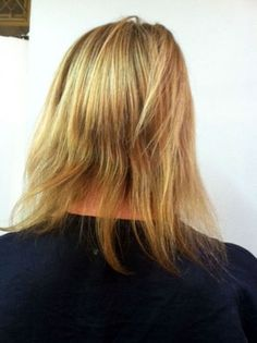 Before Picture - Hair extensions are human hair integrations, by adding length to the existing hair. Manzi Nay is an expert in different types of hair extensions in the Santa Monica Beauty Salon.
