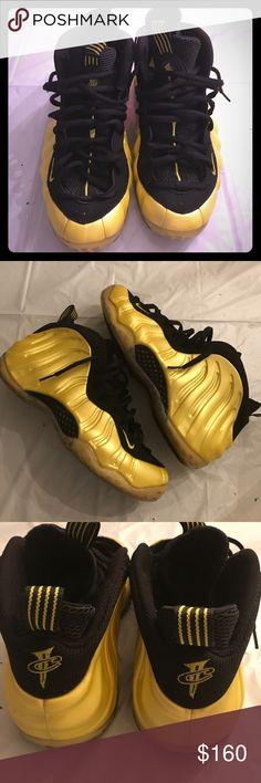 Foamposite Yellow Foams Nike Shoes Sneakers