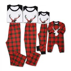 Imported From Abroad Family Matching Christmas Clothing Sled And Deer Pajamas Set Adult Kids Xmas Pyjamas Nightwear Party Pjs Sets Cotton Sleepwear Girls' Clothing