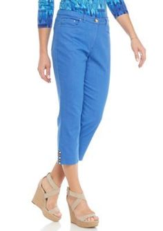 Ruby Rd Summer Solstice Colored Jean Capris