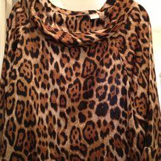 Beautiful Leopard 3/4 sleeve blouse Lovely Leopard Blouse Spiegel Tops Blouses